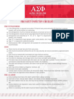 Fire Safety Inspection Checklist (CLVEN)