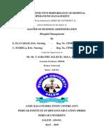 HOSPITAL OPERATIONS MANAGEMENT (MBA HOSPITAL MANAGEMENT)