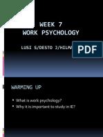 Minggu 7 - Work Psychology