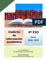 Cuaderno de información académica 4º ESO 2019