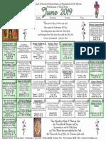 2019 June Festal Calendar