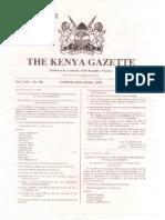 Special Gazette Notice Oct 25 2