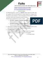 5.TIFR _Int. Ph.D._ Syllabus