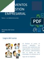 Tema 1 - La Administración (1)