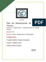 Plan De Mantenimiento De Soporte Técnico