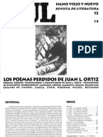 Revista Xul nº 12 - Los poemas perdidos de Juan L. Ortiz