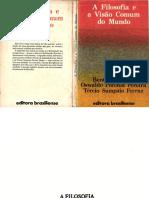 a Filosofia e a Visao Comum Do Mundo B Prado Jr O P Pereira T S Ferraz 1981