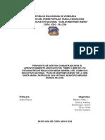 Proyecto Escolar c.e.n. Carlos m. Bueno