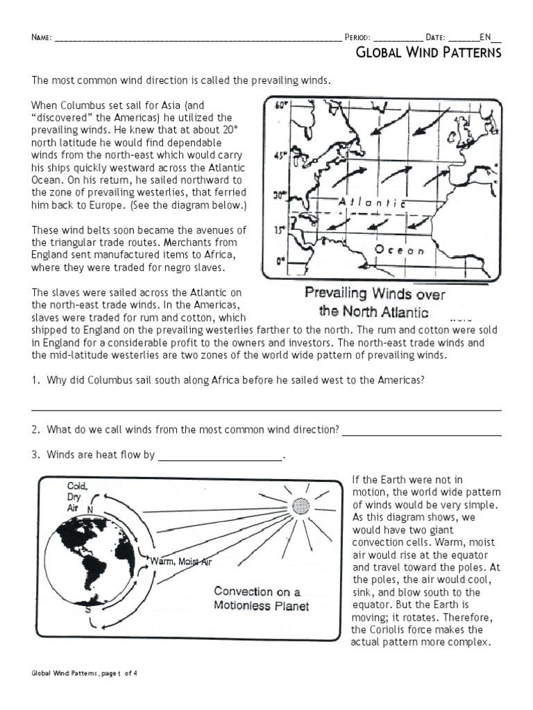 Global Wind Patterns 25  PDF  Wound  Earth In Global Wind Patterns Worksheet