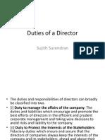 Duties of a Director