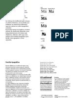 Clasificación tipográfica
