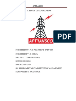 A Study on Aptransco