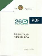 Resultats eleccions municipals i europees 26 de maig