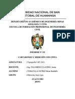 Informe i Topografía 2019