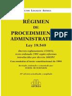 Regimen de Procedimientos Admin - Tomas Hutchinson