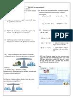 Revisão 8 Ano Equações