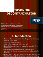 Poisoning Decontamination