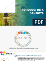 Sosiologi Desa Dan Kota