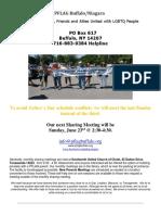 June 2019 PFLAG Buffalo Niagara Newsletter