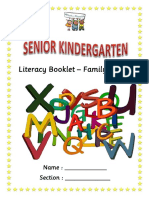 Literacy Booklet - Family Words Cover Page Wth Woohu Phonics Logo