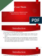 Proposal Defense Format