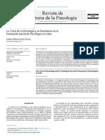 La Crisis de La Psicologia y Su Enseñanza en La Formación Inicial de Psicólogos en Cuba