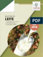 CEPEA Boletim Do Leite Abr 2018