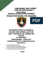 SILABO DE USO Y MANEJO DE ARMAS DE FUEGO IV - ESPARTANOS