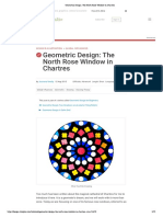 Geometric Design- The North Rose Window in Chartres