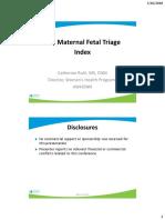 2 - Maternal Fetal Triage Index - Ruhl