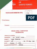 1Y LegalResearch Cacho Prelims 2016