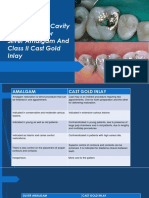 Differences Between Cast Restoration and Amalgam