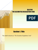 Securities and Regulations Code