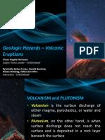 Geologic Hazards Volcanic Eruptions
