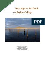 Intermediate Algebra Textbook