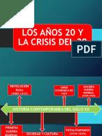 la crisis de los años 20