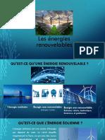 d'Energie Renouvelable