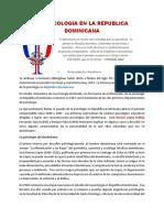 Historia Psicologia Dominicana