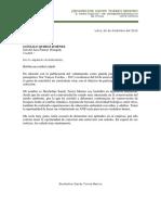 Carta Presentacion Sandy