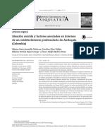 2015 - Ideación Suicida y Factores Asociados en Internos de Un Establecimiento Penitenciario de Antioquia (Colombia)