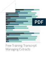 Managing Extracts