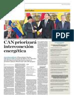CAN Priorizará Interconexión Energética