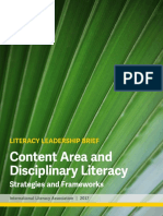 1 Content Area and Disciplinary Literacy Frameworks