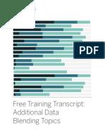 Additional Data Blending Topics