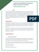 Diagnostico a Base de Un Sistema de Gestion de Seguridad y Salud en El Trabajo Maryori Alexandra Quelcahuanca Campos