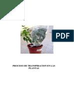 Práctica 5 (Transpiración)