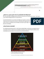 ¿Qué es y para qué sirve la pirámide de Maslow.pdf