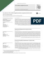 Los Procesos de Cambio Organizacional y La Generacion de Valor. Jose Luis Sandoval Duque