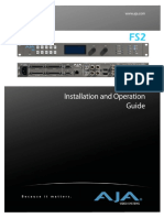 AJA FS2 Installation and Operation Guide v2.0