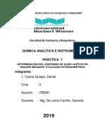 Practica 6 Determinacion Gravimetrica de Calcio en Leche 2019